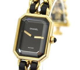 【CHANEL】シャネル マトラッセ プルミエール H001 ゴールド レザー 腕時計 レディース クォーツ (M) アンティーク【中古】