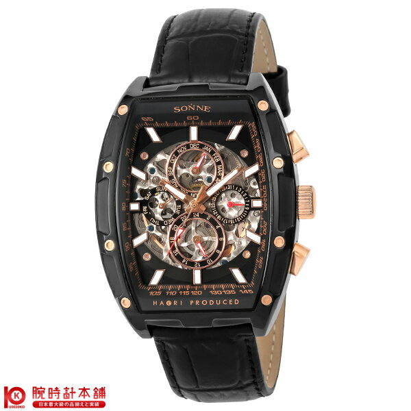 【ポイント20倍】ゾンネ SONNE ゾンネ×ハオリ 岩城滉一 コラボモデル H018BB-BK [正規品] メンズ 腕時計 時計