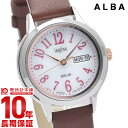 【店内最大ポイント49倍!19日20時から】 セイコー アルバ アンジェーヌ SEIKO ALBA ingenu AHJD110 ソーラー 腕時計 レディース 革ベルト 時計