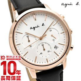 【29日は店内最大ポイント39倍!】 アニエスベー agnes b. ペア FCRT965 サム SAM メンズ 腕時計 クロノグラフ 革ベルト 時計【あす楽】