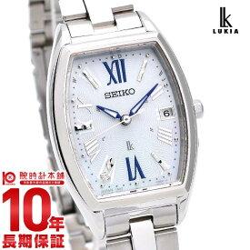 セイコー ルキア ソーラー 電波 レディース SEIKO LUKIA 腕時計 時計 SSVW165 ホワイト 白 【あす楽】