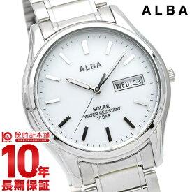 【15日は店内最大ポイント36倍!】 セイコー アルバ ソーラー 腕時計 メンズ SEIKO ALBA AEFD567 防水 カレンダー シルバー【あす楽】