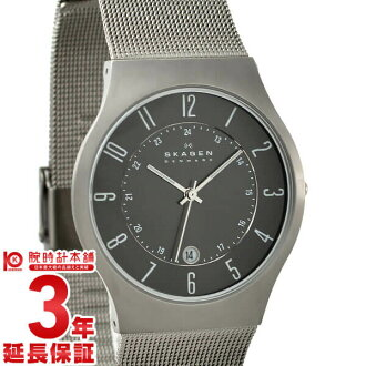 Scar gene men SKAGEN ultra slim 233XLTTM [overseas import goods] watch clock