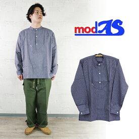 【modas】プルオーバーフィッシャーマンシャツ オリジナルストライプ