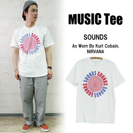 【MUSIC Tee】SOUNDS (As Worn By Kurt Cobain, NIRVANA)