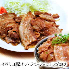 イベリコ豚 ジューシー しょうが焼き 600g(200g×3) 【 豚肉 お肉 ギフト 御歳暮 惣菜 食べ物 お歳暮 送料無料 おかず 内祝い プレゼント 】