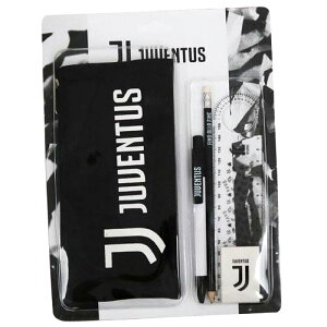 【5点セット】ユベントスFC ステーショナリーセット(ペンケース、ボールペン、鉛筆、消しゴム、定規)( サッカー グッズ 文具 筆記用具 ユベントス )