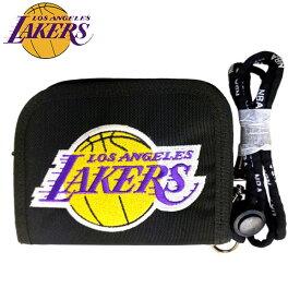 【送料無料】NBA ロサンゼルス・レイカーズ ラウンドウォレット( バスケットボール グッズ 財布 ウォレット NBA - ロサンゼルス レイカーズ Los Angeles Lakers )※ネコポス配送となります。
