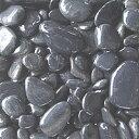 玉砂利 中国産那智砂利磨きタイプ グレー色 大粒の貴重なサイズ 1寸〜2寸混合入り 10kg袋詰め