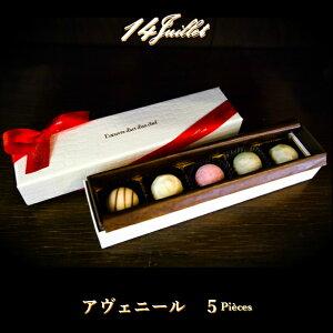 【アヴェニール 5粒入り】かわいい おしゃれ 高級  チョコレート チョコ ボンボンショコラ ギフト 詰め合わせ プレゼント アソート 高カカオ フルーツ 果物 ナッツ 紅茶 女性 キャラメル 林