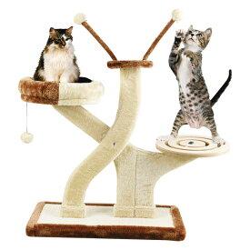 【送料込】 キャットプレイチェア キャットタワー 猫 爪とぎ