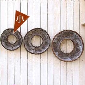 【籐カゴのみ小】花苗で作る フラワーリース ハンギング 壁掛け鉢 単品(8022)クリスマスリース ビオラリース