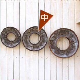 【籐カゴのみ中】花苗で作る フラワーリース ハンギング 壁掛け鉢 単品(8023)クリスマスリース ビオラリース