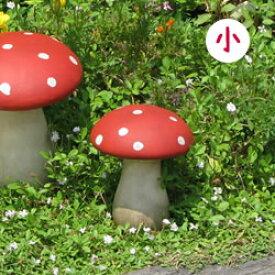 【陶器】ガーデン きのこ オーナメント【赤】(小/11569)