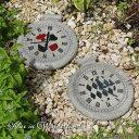 不思議の国のアリス トランプ 時計型 デコレーションストーン 2個セット(13434)