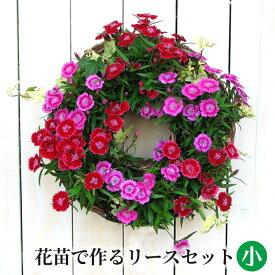 【ポイント3倍】[定番 小] リース セット 花苗で作る ハンギングリース 壁掛け 鉢