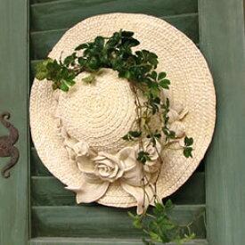 麦わら帽子 ハンギング 壁掛け 鉢カバー(P-7488)