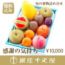 【送料込み】銀座千疋屋特選 【感謝の気持ち】季節の果物詰合