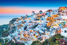 【1000P】【マイクロピース】夕暮れのサントリーニ(ギリシャ)