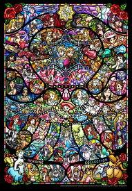 【500P】【ぎゅっとサイズ】ディズニー&ディズニー/ピクサー ヒロインコレクション ステンドグラス(ステンドアート)