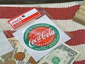 アメリカン雑貨 コカコーラ グッズ ステッカー ラウンド-HS0129