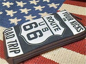 アメリカン雑貨 ROUTE66 グッズコットンポーチ デジカメケース 携帯ケース シガーケース 小物入れ S ルート66-AT0067