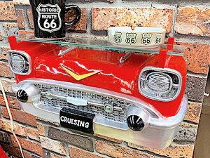 アメリカン雑貨 ユニーク雑貨 オールディーズ CAR HEAD シェルフ CRUISING テーブル ラック ディスプレイラック 壁掛け アメ車 店舗 ガレージ