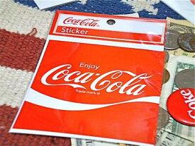 【最大70%OFFタイムセール開催中】アメリカン雑貨 コカコーラ グッズ ステッカー スクエア-HS0187