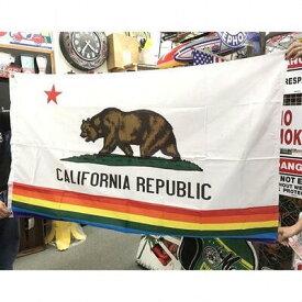 【タイムセール開催中】【送料無料】アメリカン雑貨 アメリカン フラッグ 旗 CALIFORNIA REPUBLIC レインボー タペストリー ポスター-LC0022komi