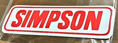 アメリカン雑貨 レーシングステッカー SIMPSON 防水ステッカー シール デカール カー用品 バイク用品-LC0051