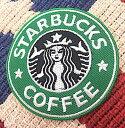 アメリカン雑貨 ワッペン アップリケ STARBUCKS COFFEE アイロンパッチ ファッション小物 カスタマイズ-LA0028