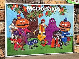 アメリカン雑貨 台紙付きポスター Mc Donald's マクドナルド ハンバーガー 壁飾り-LA0042