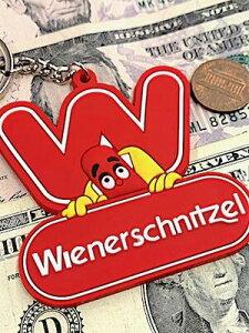 アメリカン雑貨 ラバーキーホルダー キーチェーン Wiener Schnitzel ウインナーシュニッツェル