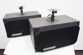【中古】カラオケ用スピーカー(2個1組) パイオニア(Pioneer)CS-V11LR 天吊り金具付き