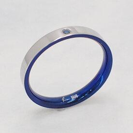 父の日 送料込み  選べる8サイズ 内側のカラーがおしゃれなリング かわいい 結婚指輪 普段使い サムシングブルー 青 ステンレスリング ペアリング リング 指輪 金属アレルギー対応 アレルギーフリー 316L 刻印 名入れ メンズ レディース ジルコニア ストーン 19juuku