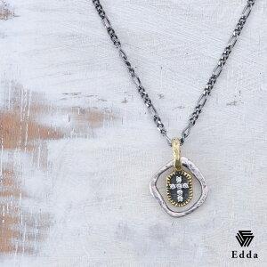 『送料無料』 ジルコニア で作られたクロスがおしゃれ かっこいい 個性的 シルバーネックレス ペアネックレス ネックレス 黒 ブラック クロス 十字架 チェーンネックレス