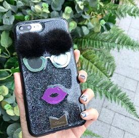 【送料無料】 mikiwuu ミキウー MsSixtie  iPhone 6/6S, 7, 8 携帯ケース スマホケース モバイルケース キラキラ グリッター