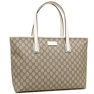 Gucci bag GUCCI 211137 KGDHR 9761 GG plus TOTE tote bag BEIGE/EBONY/MYSTIC WHITE