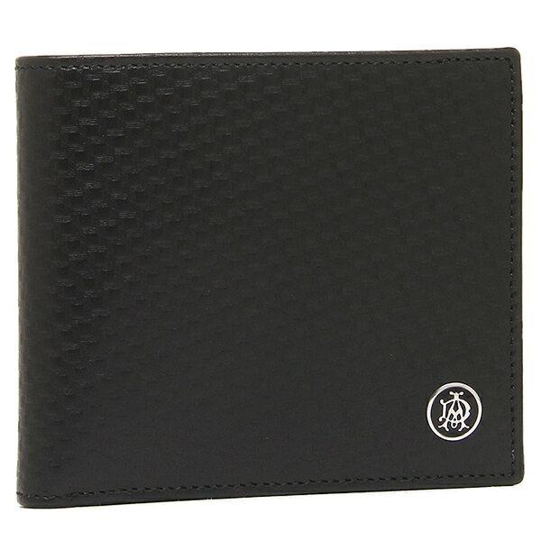 ダンヒル 財布 メンズ DUNHILL L2V332A MICRO D-EIGHT 2つ折り財布 ブラック