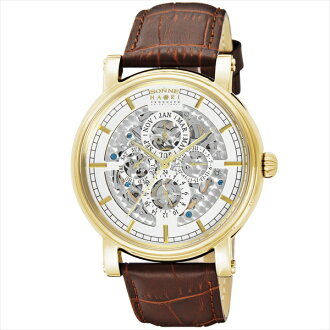 Sonne watches mens SONNE H011YG HAORI automatic winding watch watch brown / silver