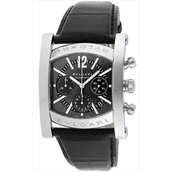 ブルガリ 時計 メンズ BVLGARI AA48C14SLDCH アショーマ 腕時計 ウォッチ ブラック