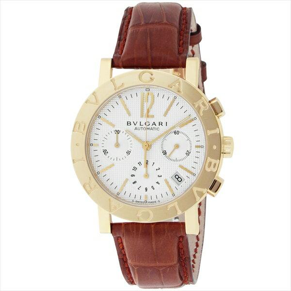 ブルガリ 時計 メンズ BVLGARI BB38WGLDCH ブルガリブルガリ 自動巻き 腕時計 ウォッチ ブラウン/ホワイト【new0617】