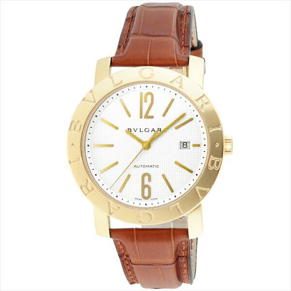 ブルガリ 時計 メンズ BVLGARI BB42WGLDAUTO ブルガリブルガリ 自動巻き 腕時計 ウォッチ ブラウン/ホワイト