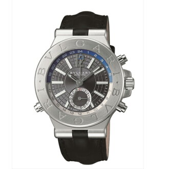 Bvlgari Watches mens DG40C14SLDGMT BVLGARI Diagono automatic watch watch black