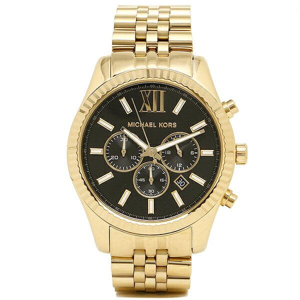 マイケルコース 時計 メンズ MICHAEL KORS MK8286 LEXINGTON レキシントン 腕時計 ウォッチ ブラック/ゴールド