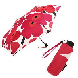 マリメッコ 傘 レディース MARIMEKKO 038654 001 PIENI UNIKKO MINI MANUAL 折り畳み傘 WHITE/RED