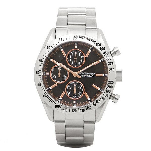 ドルチェセグレート 時計 メンズ DOLCE SEGRETO SM101BKPG クロノグラフ 腕時計 ウォッチ ブラック/シルバー