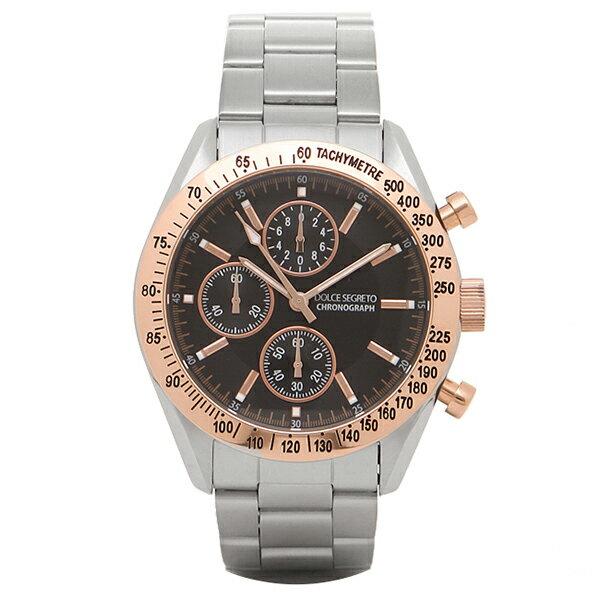 ドルチェセグレート 時計 メンズ DOLCE SEGRETO SM201BK クロノグラフ 腕時計 ウォッチ ブラック/ゴールド/シルバー