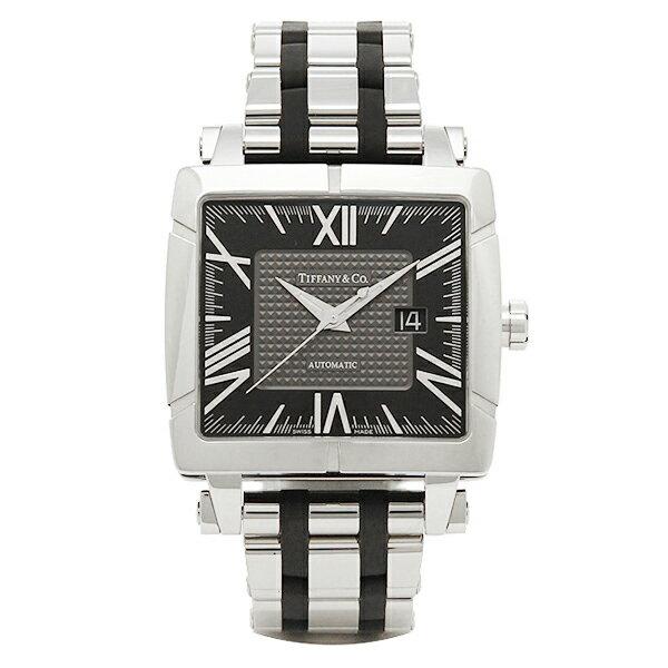 ティファニー 時計 メンズ TIFFANY&Co. Z1100.70.12A10A00A 自動巻 ATLAS GENT SQUARE 腕時計 ウォッチ ブラック
