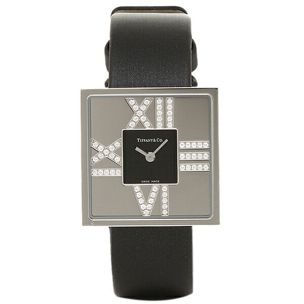 ティファニー 時計 レディース TIFFANY&Co. Z1950.10.40E10A40E ATLAS COCKTAIL SQUARE LADY 腕時計 ウォッチ ブラック